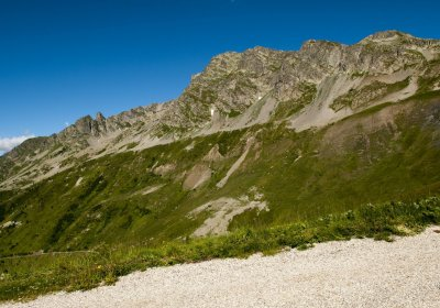 The climb up to the Col du Sabot by e-bike