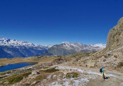 E-bike lake tour from Alpe d'Huez