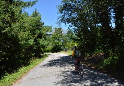 The Cascade de la Pisse ride by e-bike